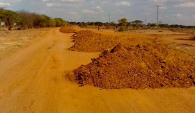 dirt road construction and murraming in Kitui