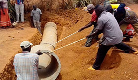 Culverts installation in Mwingi district