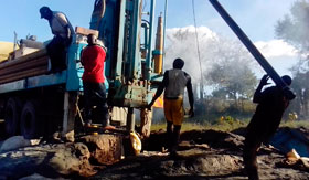 Our men at work on a project in Kitui