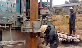 Compiling drilling materials for a Mwingi borehole